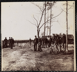Camp of 13th New York Artillery front of Petersburg