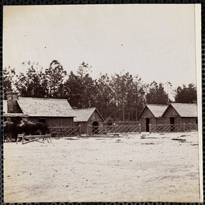 Camp of 15th New York Engineers front of Petersburg Officers' Quarters