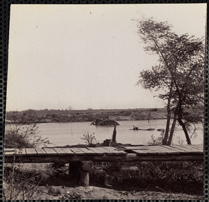 Confederate Obstructions on James River Near Drury's Bluff