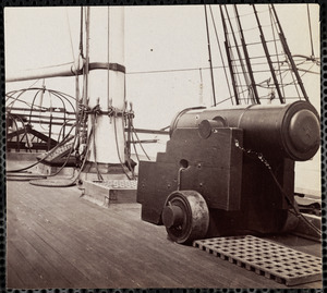 "Deck of USS ""Pawnee"" Charleston Harbor, South Carolina"