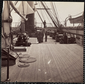"Deck of USS ""Pawnee"" Charleston [Harbor] South Carolina"