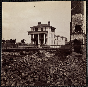 House on Broad St. where Union Officers were confined under fire
