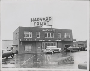 Harvard Trust Co., Alewife Brook Parkway branch in Cambridge which was robbed by two armed bandits of $25,212