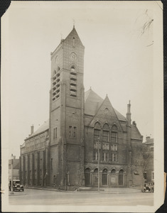 The onetime Third Universalist Church, Porter square, Cambridge, which has been purchased by the First Armenian Evangelical Church of Boston