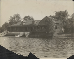 Cambridge Boat Club at original location, 994 Memorial Drive, 1930