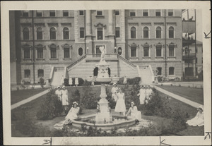 Artistic fountain presented to the Holy Ghost Hospital for Incurables, Cambridge, by James J. Conley, a director in the Harvard Trust Company