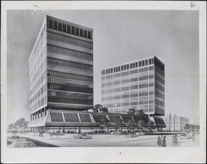 Twin towers to be built at Kendall sq., Cambridge by Cambridge Enterprises, subsidiary of Badger Co.
