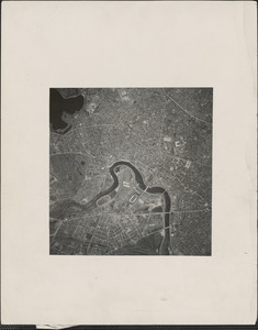 A view of Cambridge, taken from a height of 15,000 feet by the Harvard Institute of Geographical Exploration as part of its aerial survey of Massachusetts, the first project of this type ever undertaken