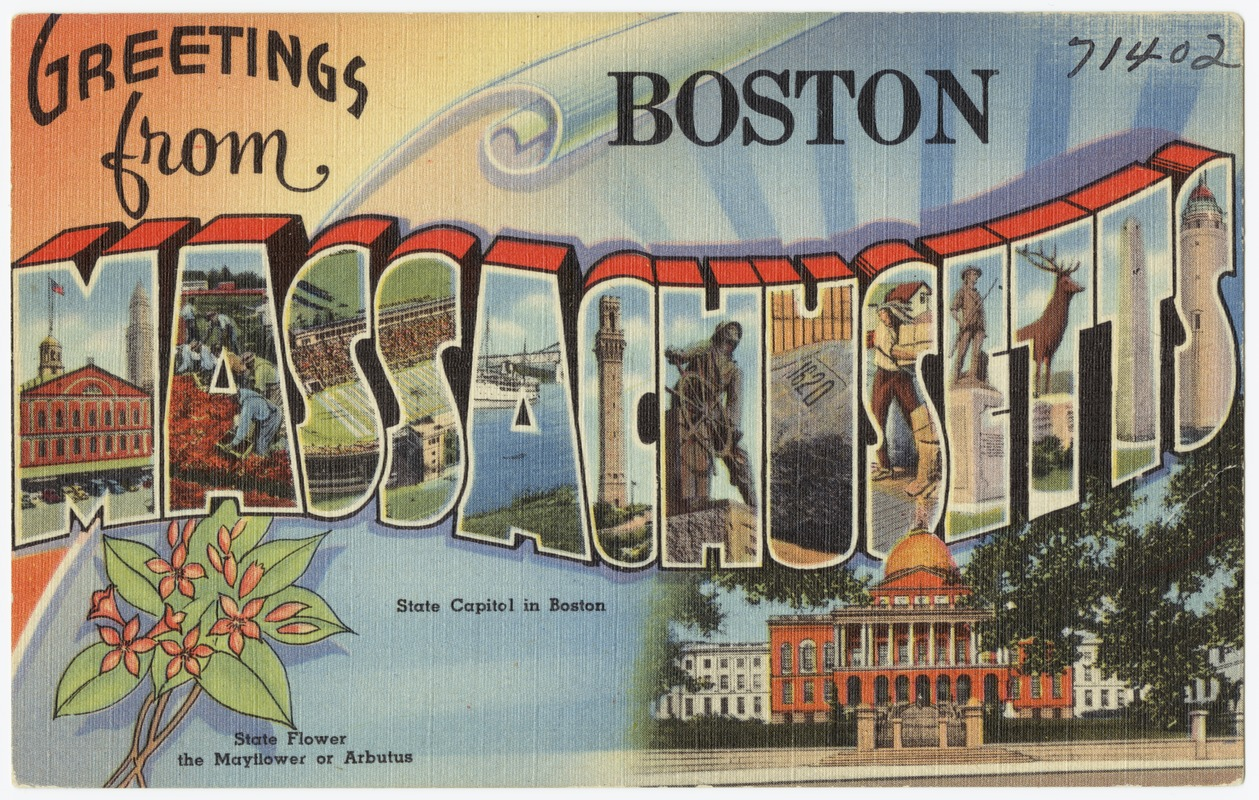 Tichnor brothers postcard collection digital commonwealth greetings from boston massachusetts m4hsunfo