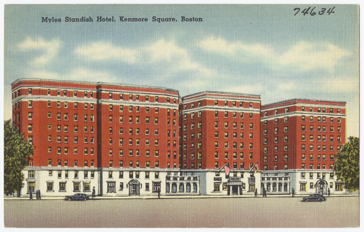 Myles Standish Hotel, Kenmore Square, Boston.