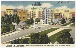 Hotel Braemore, 466 Commonwealth Ave., at Charlesgate West -- Boston, Mass.