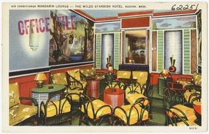 Air conditioned Mandarin Lounge -- The Myles Standish Hotel, Boston, Mass.