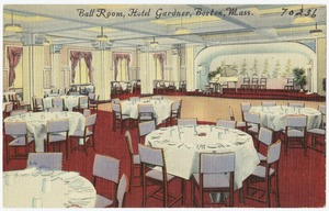 Ball room, Hotel Gardner, Boston, Mass.