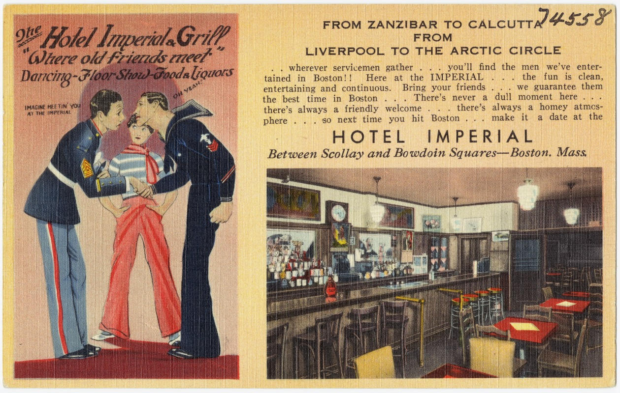 "The Hotel Imperial Grill, ""Where old friends meet"""