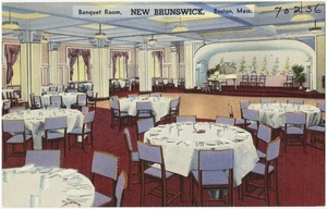 Banquet room, New Brunswick, Boston, Mass.
