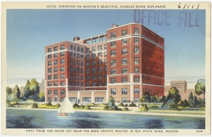 Hotel Sheraton on Boston's beautiful Charles River Esplanade, away from the noise yet near the main traffic routes, 91 Bay State Road, Boston