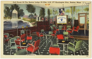 Grill Room of the Boston Lodge of Elks #10, 177 Huntington Ave., Boston, Mass.