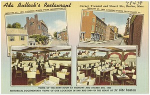 Ada Bullock's Restaurant, corner Tremont and Stuart Sts., Boston, Mass.