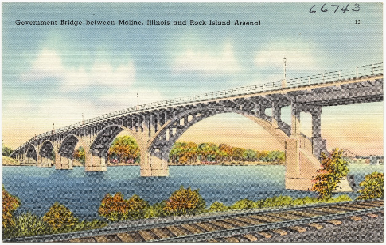 Government Bridge between Moline, Illinois and Rock Island