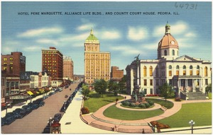 Hotel Pere Marquette Alliance Life Bldg And County Court House Peoria