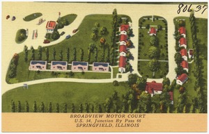Broadview Motor Court, U.S. 54, Junction By Pass 66, Springfield, Illinois