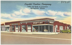 Capitol Pontiac Company, Fifth and Sixth at Lawrence, Springfield, Illinois