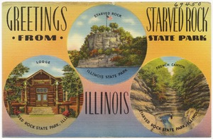 Greetings from Starved Rock State Park, Illinois -- Starved Rock, Lodge, French Canyon