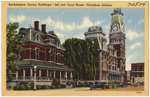 Bartholomew county buildings -- jail and court house, Columbus, Indiana