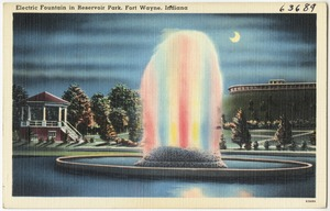 Electric fountain in Reservoir Park, Fort Wayne, Indiana