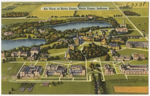Air view of Notre Dame, Notre Dame, Indiana