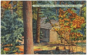 Log chapel and grove, Turkey Run State Park, Indiana
