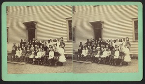 School children pose for group photograph