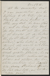 [Elizabeth Hawthorne] autograph letter signed to James Thomas Fields, Salem, 13-16 December 1870