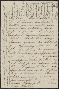 Sophia Hawthorne autograph letter signed to Annie Adams Fields, [Concord], 12 May [1861]