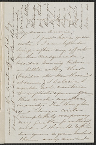 Sophia Hawthorne autograph letter signed to Annie Adams Fields, [Concord], approximately 18 March 1862