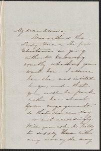 Sophia Hawthorne autograph letter signed to Annie Adams Fields, [Concord], 26 March [1862]