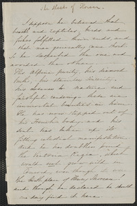 Sophia Hawthorne autograph letter to [Annie Adams Fields, Concord], approximately May 1862
