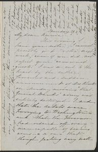 Sophia Hawthorne autograph letter signed to Annie Adams Fields, [Concord], 29 [May 1862]