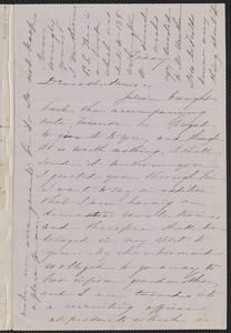 Sophia Hawthorne autograph letter signed to Annie Adams Fields, [Concord, 6 March 1863]
