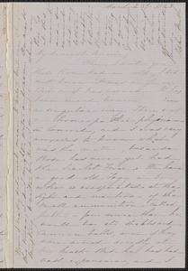 Sophia Hawthorne autograph letter signed to Annie Adams Fields, [Concord], 23 March 1863