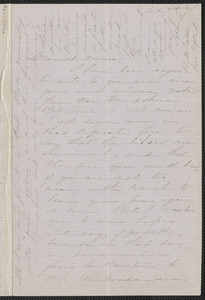 Sophia Hawthorne autograph letter signed to Annie Adams Fields, [Concord], 7 July [1863]