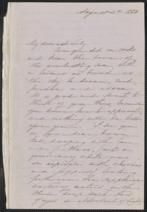 Sophia Hawthorne autograph letter signed to [Annie Adams Fields, Concord], 2 August 1863