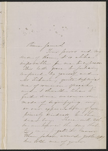 Sophia Hawthorne autograph letter signed to James Thomas Fields, [Concord], 20 September 1863