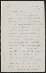 Sophia Hawthorne autograph letter signed to Annie Adams Fields, [Concord, October 1863]