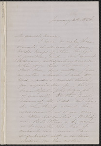 Sophia Hawthorne autograph letter signed to Annie Adams Fields, [Concord], 2 January 1864