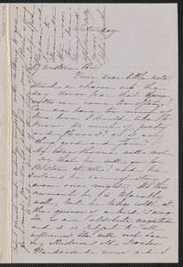 Sophia Hawthorne autograph letter signed to [Annie Adams Fields, Concord], approximately January 1864