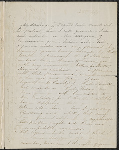 Sophia Hawthorne autograph letter signed to [Annie Adams Fields, Concord], 28 February [1864]