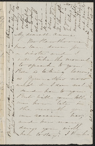 Sophia Hawthorne autograph letter signed to Annie Adams Fields, [Concord], 5 May 1864