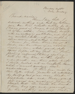 Sophia Hawthorne autograph letter signed to Annie Adams Fields, [Concord, 30 May 1864]