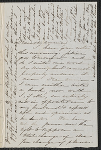 Sophia Hawthorne autograph letter signed to Annie Adams Fields, [Concord], approximately July 1864
